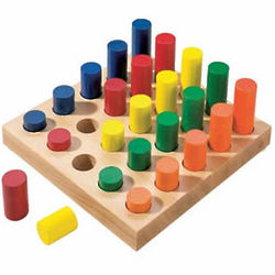 Peg Board Building Block Set