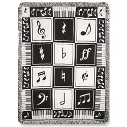 Music Notes Throw