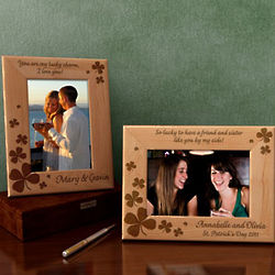 Personalized Lucky Charms Wooden Picture Frame