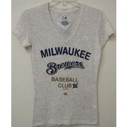 Milwaukee Brewers Ladies V-Neck T-Shirt