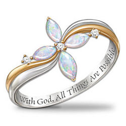 Trinity Opal and Diamond Ring