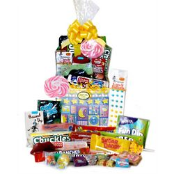 Sweet Dreams Baby Girl Retro Candy Gift Basket