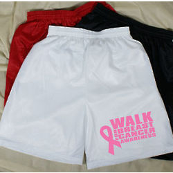 Men's Walk for Breast Cancer Awareness Mesh Shorts