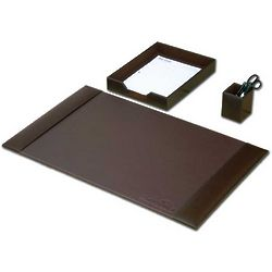 Brown Leather Desk Set