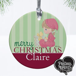 Precious Moments Personalized Baby's First Christmas Ornament