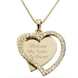 Gold Plated Heart Swing Necklace