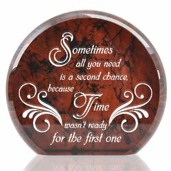 Second Chance at Love Faux Marble Paperweight