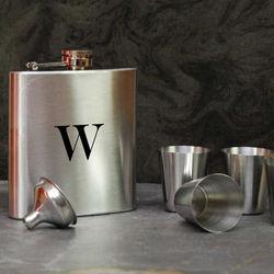 Monogrammed Flask Set