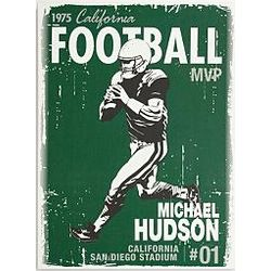 Customized Retro Graphic Football Canvas