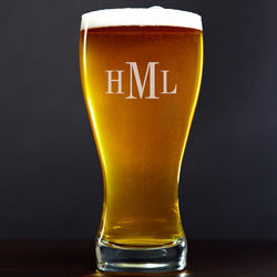 Personalized Roomy Top Pilsner Glass
