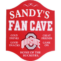 Ohio State Personalized Fan Cave Sign