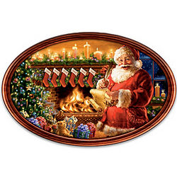 Cherished Christmas Memories Personalized Masterpiece Plate