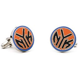 New York Knicks Cuff Links with Engravable Valet Box