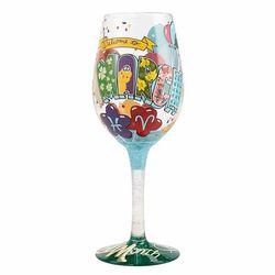 March Birthday Wine Glass