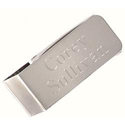 Engraved Silver Money Clip