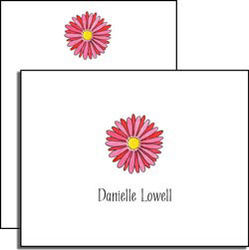 Personalized Everyday Gerber Daisy Note Cards