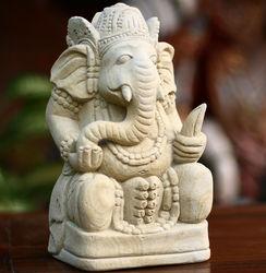 Magnificent Ganesha II Sandstone Statuette