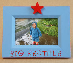 Big Brother Hand Painted Picture Frame