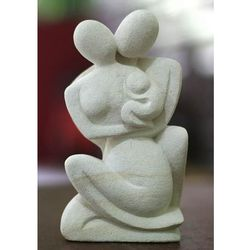 """Happy Family'"" Sandstone Sculpture"
