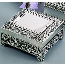 Key to My Heart in Silver Scrolled Antique Box