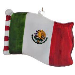 Mexico Flag Christmas Ornament