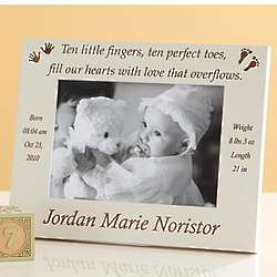 Ten Fingers & Ten Toes Birth Announcement Frame