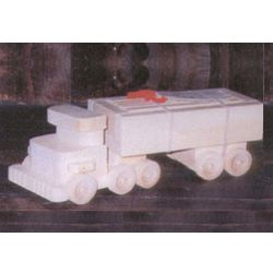 Wooden Tractor Trailer Truck