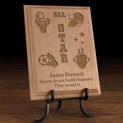 Personalized All-Star Sports Wooden Plaque