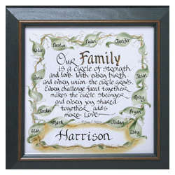 Personalized and Framed Family Print