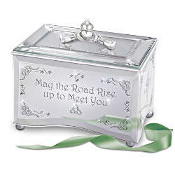 Reflections of an Irish Blessing Mirrored Music Box