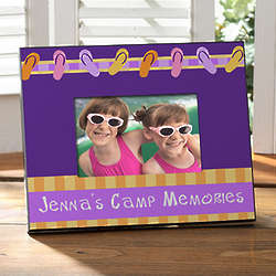 Flip Flops Personalized Summer Camp Picture Frame