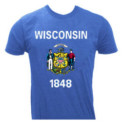 Wisconsin State Flag Adult T-Shirt
