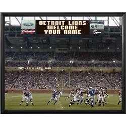 Personalized Detroit Lions Scoreboard 11x14 Canvas