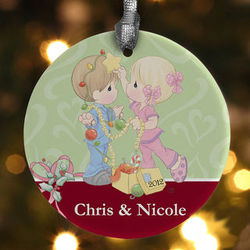 Personalized Christmas Ornaments - Precious Moments Couple