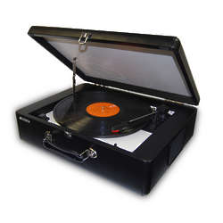 Portable 3-Speed Turntable with Built-In Speakers