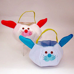Floppy Ear Bunny Personalized Easter Basket