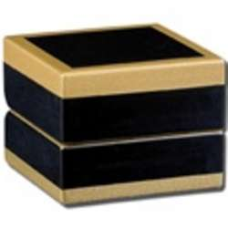 Black Maple Wood Case Box for a Single Ring