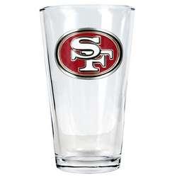 San Francisco 49ers Pint Glass
