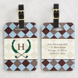 Golf Pro Personalized Golf Bag Address Tag