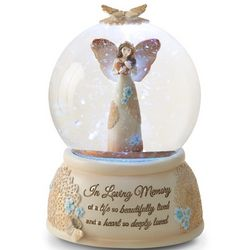 In Loving Memory Angel Musical Water Globe