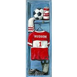 Personalized Soccer Sports Locker Wall Art