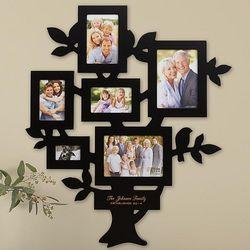 Radiant Family Tree Black Picture Frame