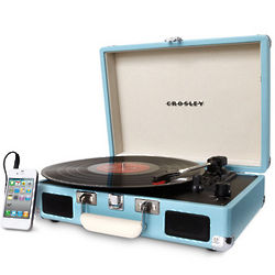 Radio Cruiser Portable Turntable in Turquoise