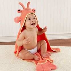 Lobster Baby's Hooded Towel