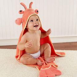 Lobster Baby's Hooded Towel