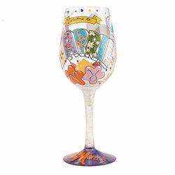April Birthday Wine Glass
