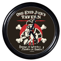 One-Eyed Jack Round Clock