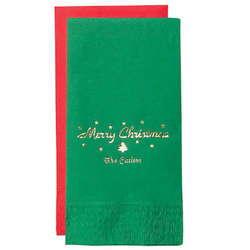 Personalized Holiday Guest Hand Towels