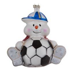 Soccer Snowman Christmas Ornament