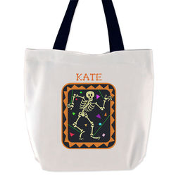 Dancing Skeleton Trick or Treat Bag